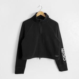 CALVIN KLEIN Black Fleece Quarter Zip Pullover